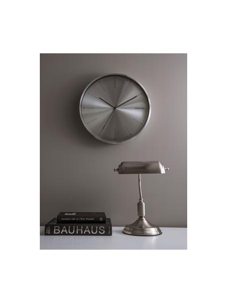 Lámpara de escritorio pequeña de metal Bank, estilo retro, Pantalla: metal, Cable: plástico, Plateado, An 27 x Al 34 cm