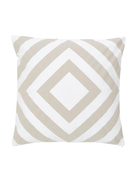 Poszewka na poduszkę Sera, 100% bawełna, Biały, beżowy, S 45 x D 45 cm