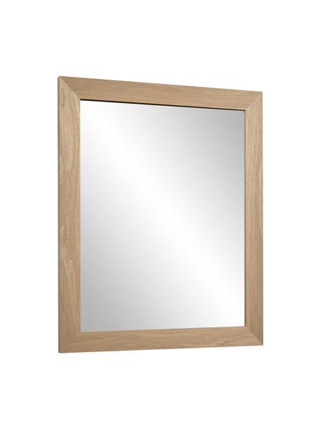 Specchio da parete con cornice in legno Wilany, Cornice: legno, Superficie dello specchio: lastra di vetro, Beige, Larg. 47 x Alt. 58 cm