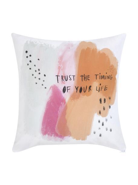 Designer Kissenhülle Trust von Kera Till, 100% Baumwolle, Weiß, Mehrfarbig, 40 x 40 cm