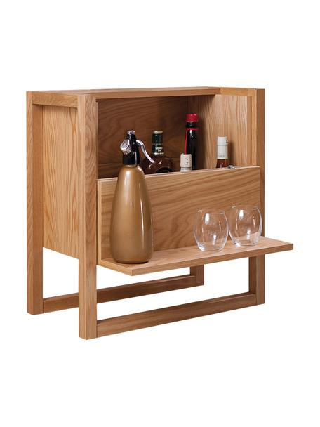 Mueble bar de roble NewEst, Estructura: tablero de fibras de dens, Roble, An 59 x Al 60 cm