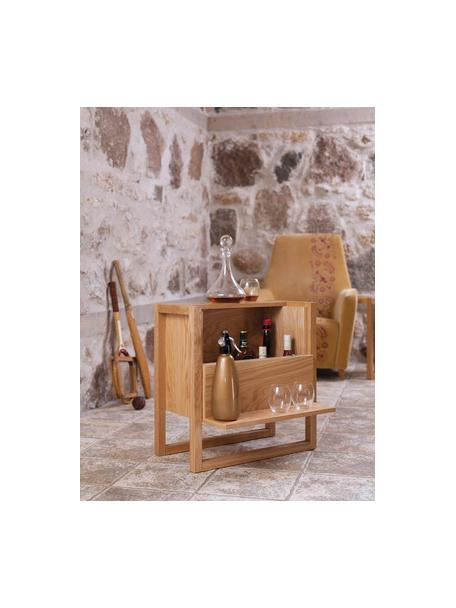 Mini-Bar NewEst aus Eichenholz, Korpus: Mitteldichte Holzfaserpla, Eichenholz, 59 x 60 cm