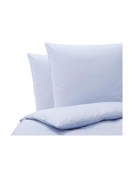 Baumwoll-Bettwäsche Weekend in Hellblau, 100% Baumwolle  Fadendichte 145 TC, Standard Qualität  Bettwäsche aus Baumwolle fühlt sich auf der Haut angenehm weich an, nimmt Feuchtigkeit gut auf und eignet sich für Allergiker., Hellblau, 200 x 200 cm + 2 Kissen 80 x 80 cm