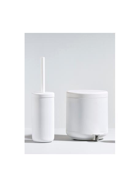Scopino con contenitore in gres Omega, Contenitore: gres con superficie soft-, Manico: materiale sintetico, Grigio chiaro, Ø 10 x Alt. 39 cm