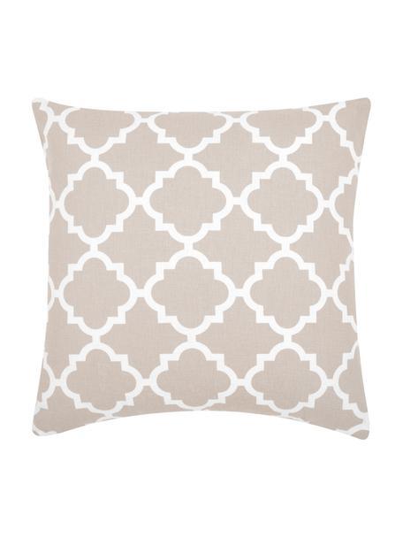 Funda de cojín Lana, 100%algodón, Beige, blanco, An 45 x L 45 cm