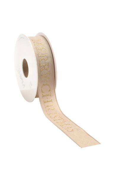 Wstążka prezentowa Textire, Poliester, Jasny brązowy, odcienie złotego, S 3 x D 1500 cm