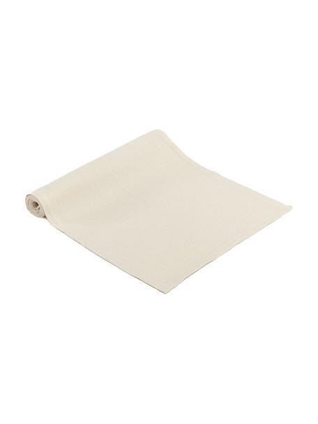 Camino de mesa en tejido gofre Kubo, 65%algodón, 35%poliéster, Beige, An 40 x L 145 cm