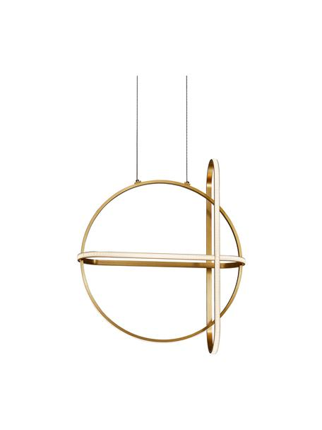 LED hanglamp Arte in messing, Diffuser: acrylglas, Baldakijn: gecoat aluminium, Messingkleurig, 52 x 61 cm