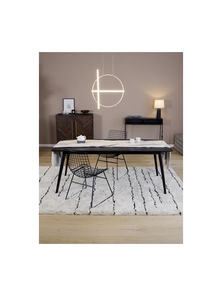 Lámpara de techo LED Arte, Estructura: aluminio recubierto, Cable: cubierto en tela, Anclaje: aluminio recubierto, Latón, An 52 x Al 61 cm