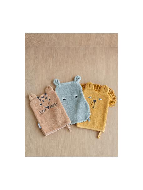 Set 3 asciugamani Capodanno, 100% cotone biologico (Terry), Rosa, blu, giallo, Set in varie misure