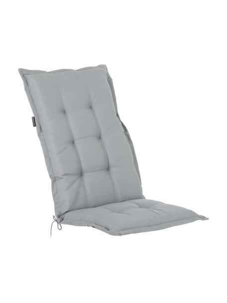 Einfarbige Hochlehner-Stuhlauflage Panama in Hellgrau, Bezug: 50% Baumwolle, 50%Polyes, Hellgrau, 50 x 123 cm