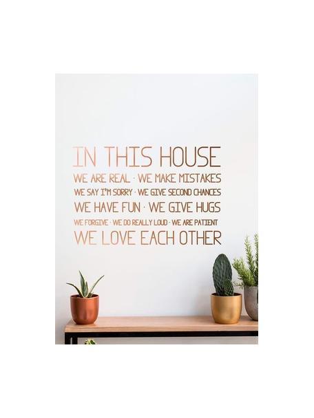 Pegatinas de pared House Rules, Vinilo adhesivo, Bronce, An 60 x Al 40 cm
