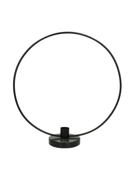 Kerzenhalter Wrights, Fuß: Marmor, Gestell: Metall, beschichtet, Schwarz, 28 x 30 cm