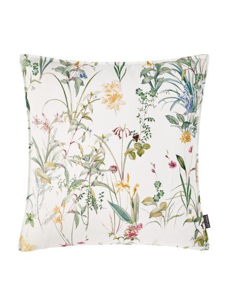 Kussenhoes  Anjuli met bloemenprint, 100% katoen, Wit, multicolour, 40 x 40 cm