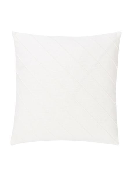 Poszewka na poduszkę Malia, 55% len, 45% bawełna, Biały, S 45 x D 45 cm