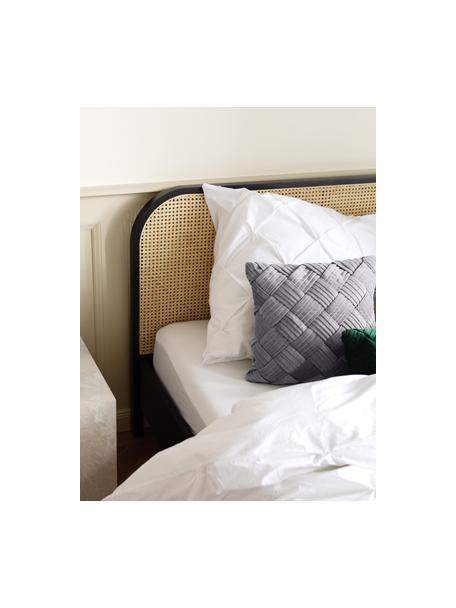 Poszewka na poduszkę z aksamitu Sina, Aksamit (100% bawełna), Szary, S 45 x D 45 cm