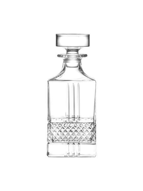Kristall-Dekanter Calicavino mit Relief, 850 ml, Kristallglas, Transparent, H 19 cm
