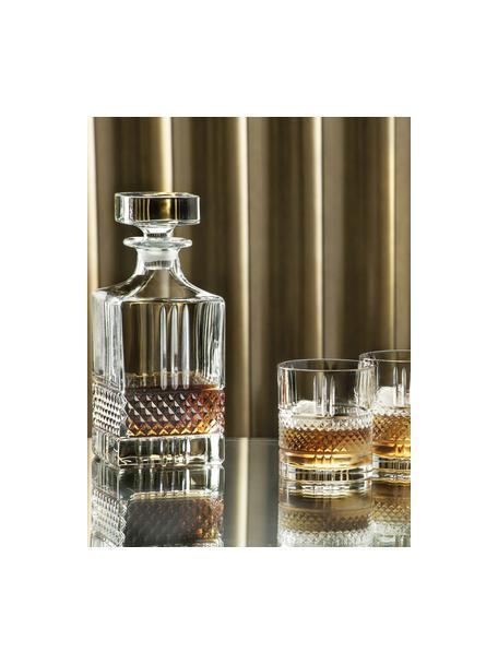 Kristalglazen karaf Calicavino met reliëf, 850 ml, Kristalglas, Transparant, H 19 cm