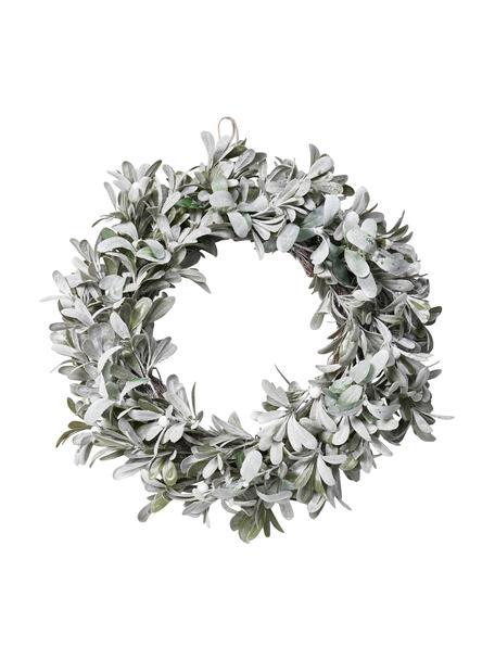 Handgefertigter Weihnachtskranz Vintia Ø 55 cm, Kunststoff, Hellgrün, Ø 55 cm