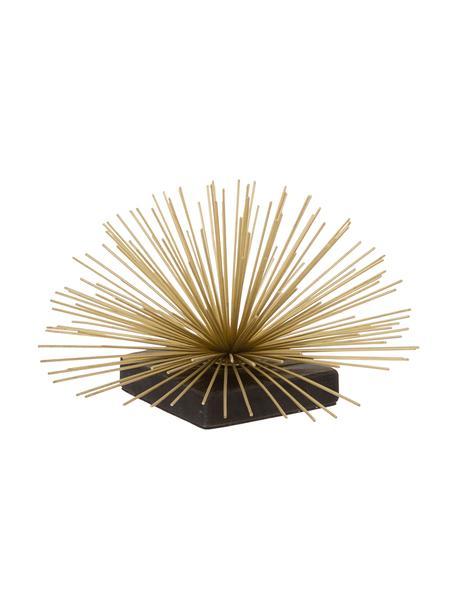 Decoratief object Marburch, Object: metaal, Voet: marmer, Onderzijde: vilt, Object: goudkleurig. Voet: zwart marmer, Ø 21 x H 13 cm