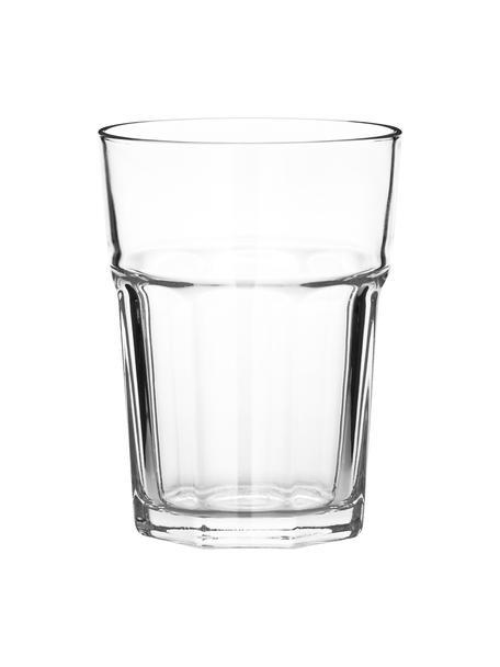 Stapelbare waterglazen Gibraltar, 6-delig, Glas, Transparant, Ø 9 cm