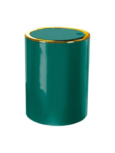 Afvalemmer Golden Clap met klapdeksel, Kunststof, Smaragdgroen, Ø 19 x H 25 cm