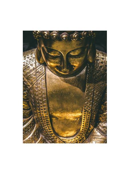 Großes Deko-Objekt Jarven, Polyresin, lackiert, Goldfarben, 24 x 39 cm