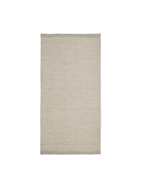 Handgeweven Kelim vloerkleed Delight van wol in lichtgrijs, Lichtgrijs, B 70 x L 140 cm (maat XS)