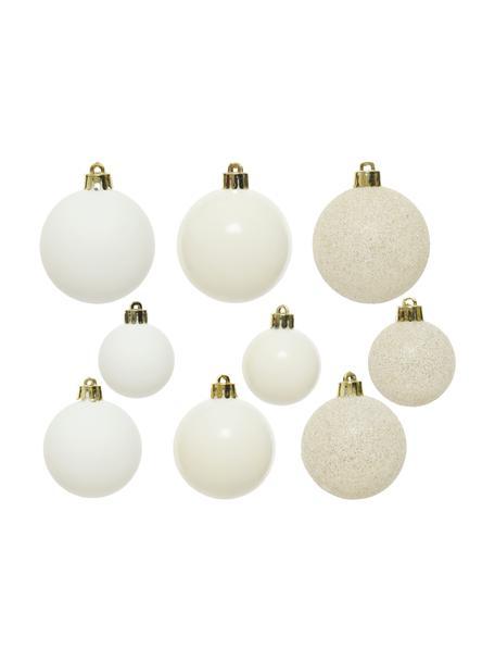 Bruchfestes Weihnachtskugel-Set Mona, 30-tlg., Weiß, Set mit verschiedenen Größen