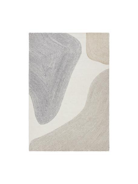 Handgetufteter Teppich Aspen, 52% Wolle, 35% Polyester, 13% Polyamid, Beige, Grau, B 200 x L 300 cm (Größe L)