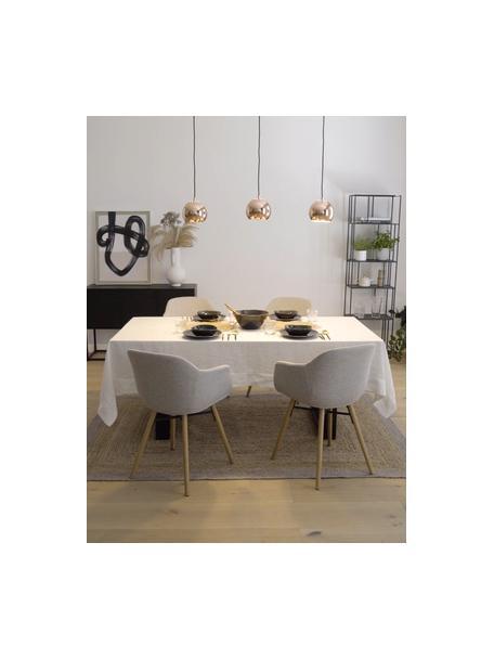 Lámpara de techo grande Ball, Anclaje: metal pintado, Cable: cubierto en tela, Cobre brillante, negro mate, An 100 x Al 18 cm