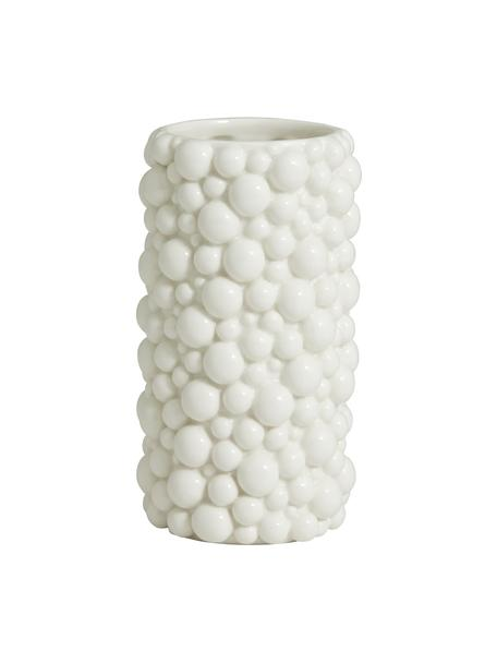 Keramik-Vase Naxos, Keramik, Weiß, Ø 9 x H 20 cm