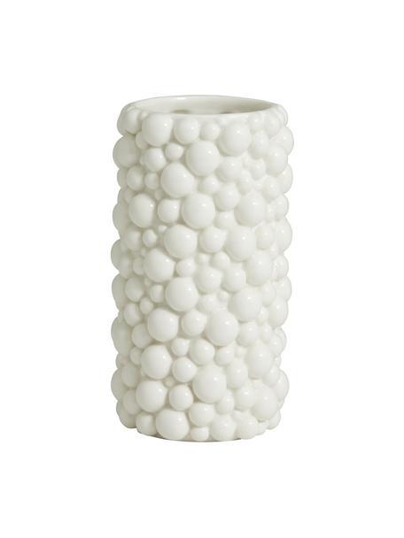 Vaso in ceramica Naxos, Ceramica, Bianco, Ø 9 x Alt. 20 cm