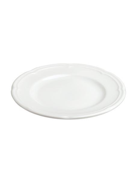 Broodbord Ouverture van porselein, 6 stuks, Porselein, Wit, Ø 16 cm