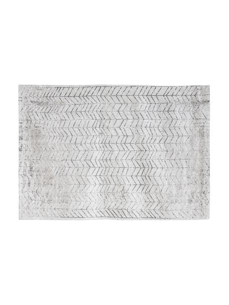 Tappeto J. Ladder, Tessuto: Jacquard, Retro: Miscela di cotone rivesti, Bianco, nero, Larg. 140 x Lung. 200 cm