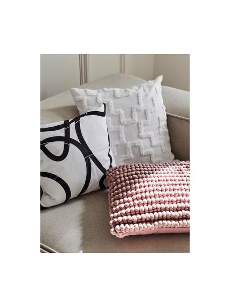Kussenhoes Lorna met getuft patroon, 100% katoen, Wit, 50 x 50 cm