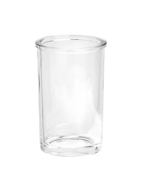 Porta spazzolini in vetro Clear, Vetro, Trasparente, Ø 7 x Alt. 11 cm