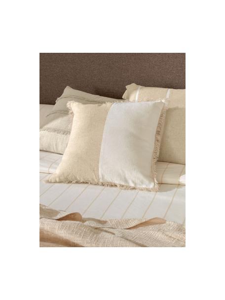 Poszewka na poduszkę z frędzlami Silene, 100% bawełna, Beżowy, S 45 x D 45 cm