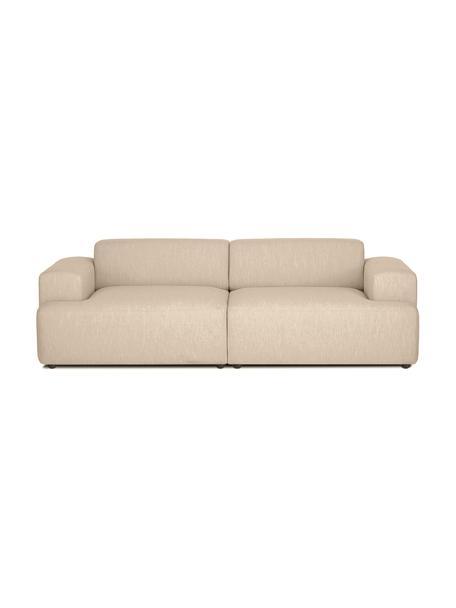 Sofa Melva (3-Sitzer) in Dunkelbeige, Bezug: 100% Polyester Der hochwe, Gestell: Massives Kiefernholz, FSC, Webstoff Dunkelbeige, B 238 x T 101 cm