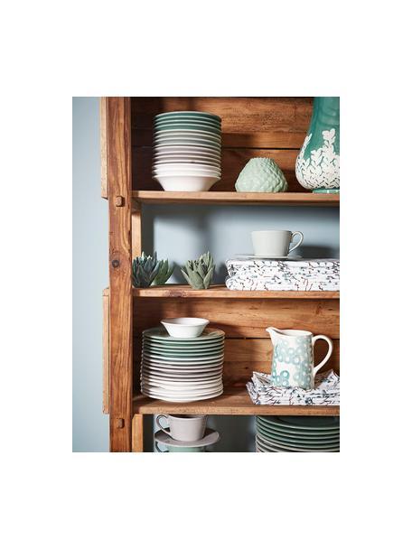 Teetasse mit Untertasse Constance im Landhaus Style, Steingut, Mint, Ø 19 x H 8 cm