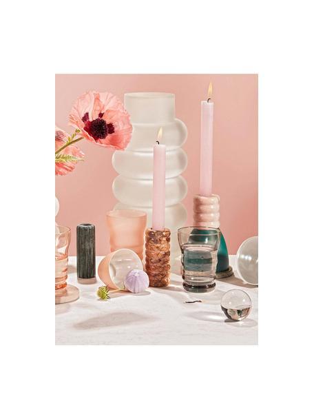 Waterglazen Bubbly melkachtig/glanzend, 4-delig, Glas, melkkleurig, Roze, transparant, Ø 8 x H 11 cm