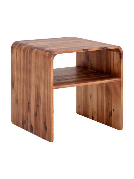 Comodino in legno di acacia Hassel, Legno di acacia, Marrone, Larg. 38 x Prof. 38 cm
