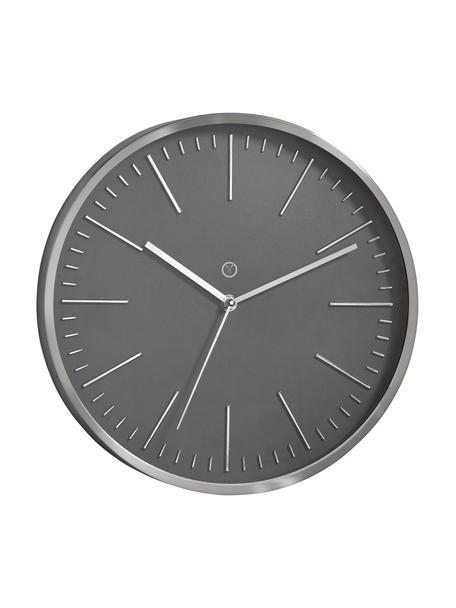 Wandklok Dakota, Frame: aluminium, Grijs, zilverkleurig, Ø 30 cm