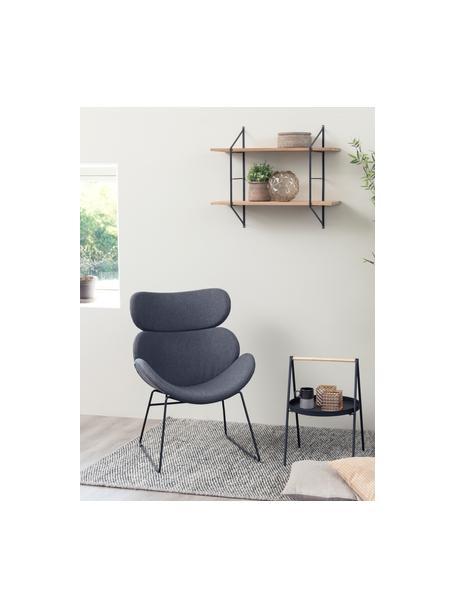Fotel wypoczynkowy Cazar, Tapicerka: poliester, Ciemnyszary, S 69 x G 79 cm