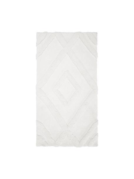 Puszysty dywan z wysokim stosem w stylu boho Magda, Beżowy, S 80 x D 150 cm (Rozmiar XS)