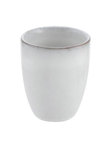 Tazza senza manico in gres fatta a mano Nordic Sand 6 pz, Gres, Sabbia, Ø 7 x Alt. 8 cm