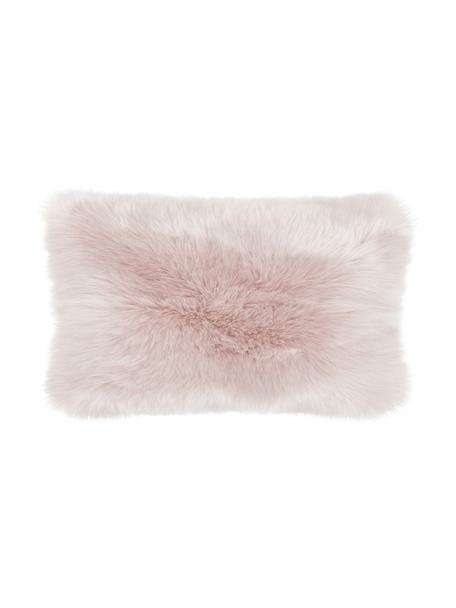 Zachte kussenhoes van imitatievacht Mathilde in roze, glad, Roze, 30 x 50 cm