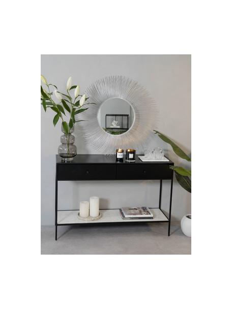Espejo de pared redondo Lilly, Espejo: cristal, Plateado, Ø 90 cm