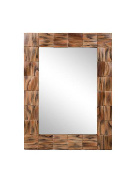 Espejo de pared Mateo, Espejo: cristal, Marrón, beige, An 62 x Al 84 cm