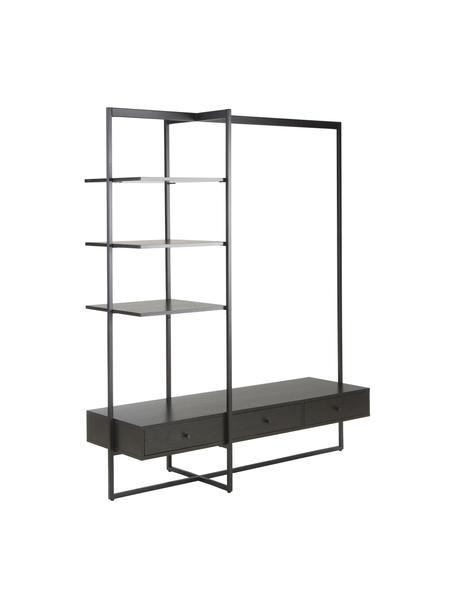 Armario abierto Pacey, Estructura: metal con pintura en polv, Negro, An 150 x Al 180 cm